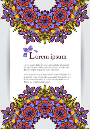 blanks: Elegant template for different business blanks like resume, company presentation, corporate identity. Hand drawn frame template