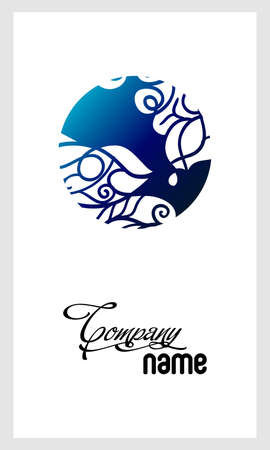 Prachtig mozaïek kant logo in stempel stijl. Stencil abstract monogram