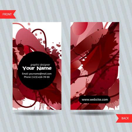 Kleurrijke decoratieve visitekaartjes met vrije vormen en vlekken. Creatieve sjablonen
