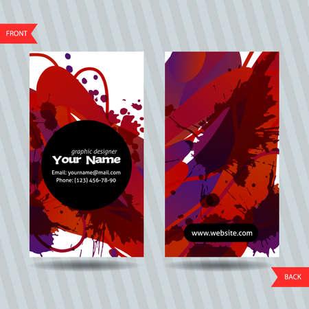 Kleurrijke decoratieve visitekaartjes met vrije vormen en vlekken. creatieve templates