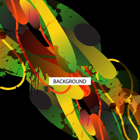 Kleurrijke decoratieve achtergrond met vrije vormen en vlekken. Voor zakelijke sjabloon of te hervatten. Wenskaart