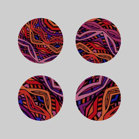 Set van ronde mozaïek design elementen