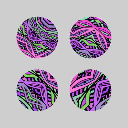 Set van ronde mozaïek design elementen.