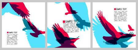 Vector set van kleurrijke regenboog stijl kraaien .Zakelijk design templates.