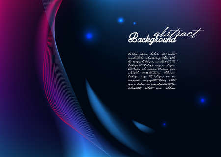 Abstract background with modern glowing lines