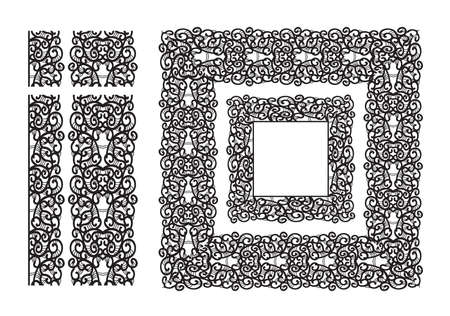 추상 레이스 리본 원활한 패턴입니다. 템플릿 라인 디자인. 레이스 냅킨.
