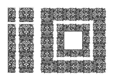 추상 레이스 리본 원활한 레이스 냅킨 패턴.