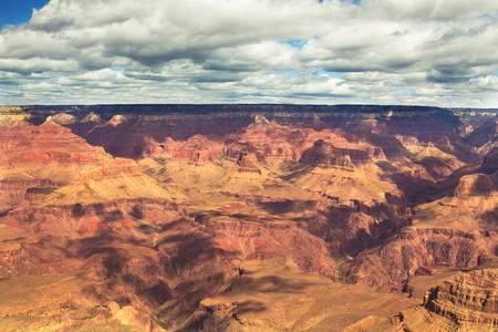Beautiful Landscape of Grand Canyon National Park South Rim with clouds in Arizona photo