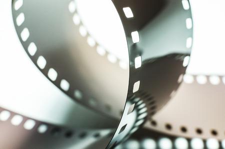 Ring photo of film on white background