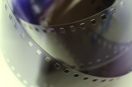 ring glossy film closeup