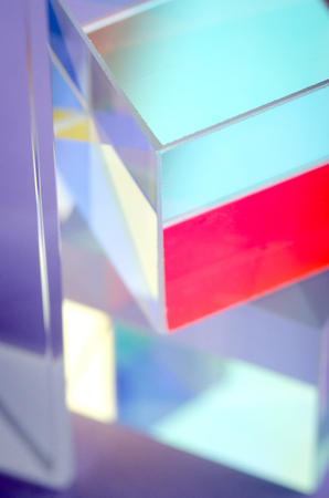 glass multicolored cube corner abstract