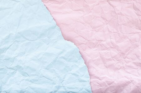 Background of blue and blue crumpled paper