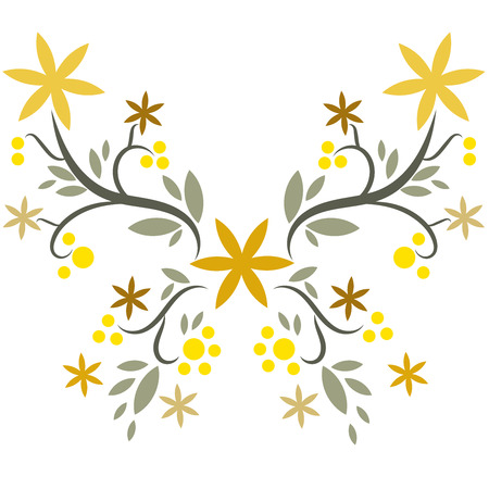 beatiful handmade butterfly vector Illustration