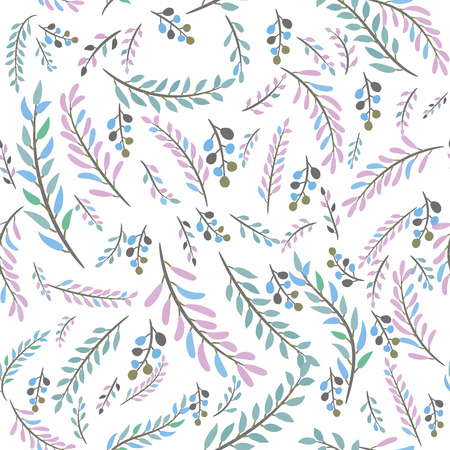 seamless leaves pattern Stock Vector - 105529057