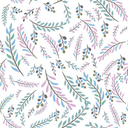 seamless leaves pattern Illustration