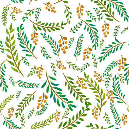 seamless leaves pattern Stock Vector - 105529071