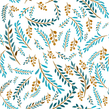seamless leaves pattern Stock Vector - 105529072