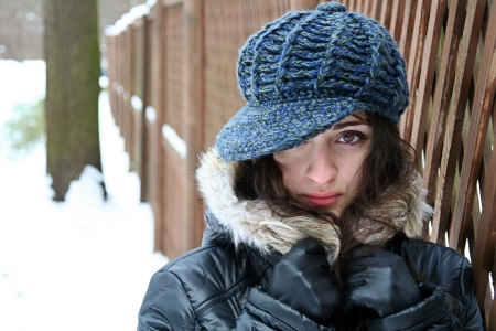 A girl in winter clothes   Stock Photo - 4405363