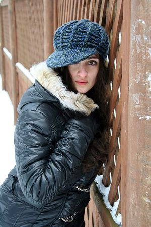 A girl in winter clothes Stock Photo - 4405367