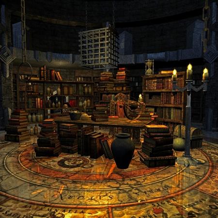 wizards room Stock Photo