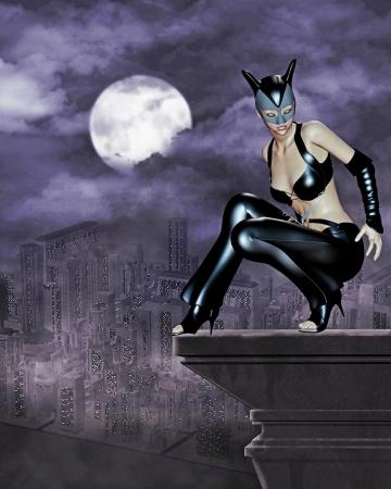 cat woman photo