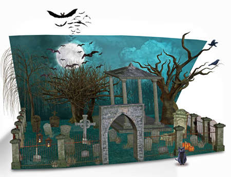 halloween card Stock Photo - 9146047