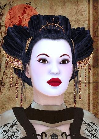 geisha portrait photo