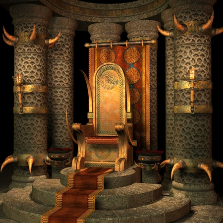 throne: fantasy scenery