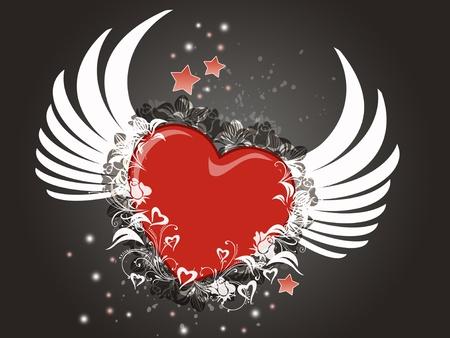 flying heart photo