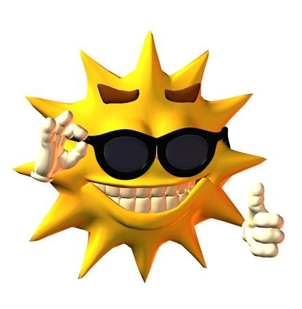 sun toon Stock Photo