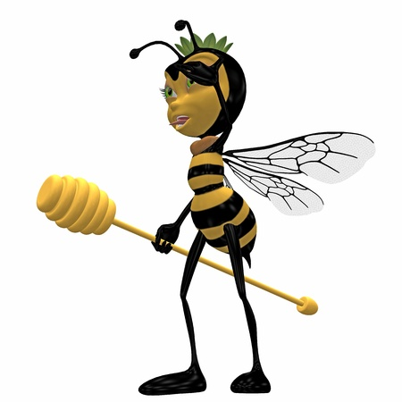 bee toon Stock Photo