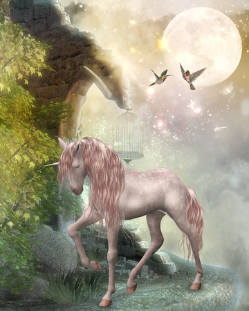 fairytale background: last unicorn