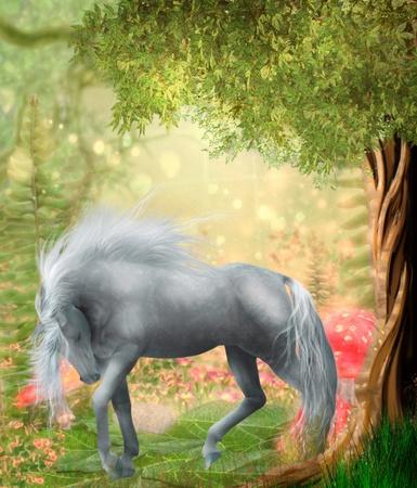 horse in a magic wood