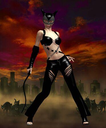 batman: cat woman Stock Photo