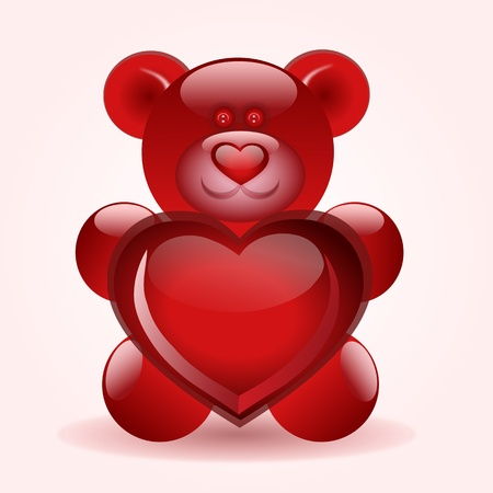 bear with heart in his hands Stock Vector - 9146511
