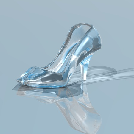cinderella shoes: glas slipper