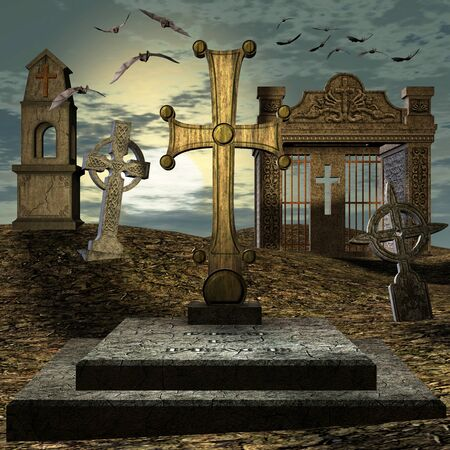 demise: graveyard Stock Photo
