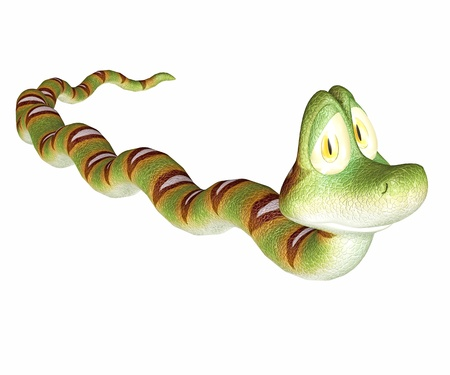 crouch: snake toon Stock Photo