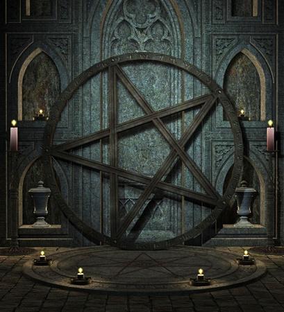 spooky altar Stock Photo