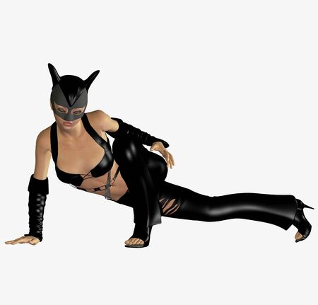catsuit: cat woman Stock Photo