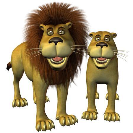 3d lion: lions toon