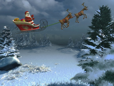 santa and his sleigh photo