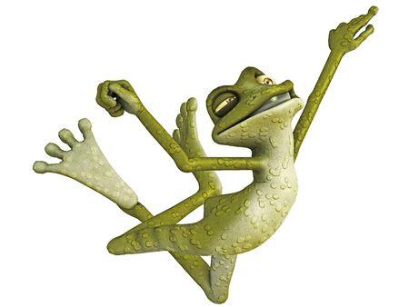 frog jumping photo
