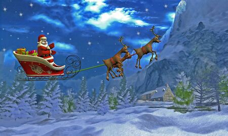 Santa`s sleigh  photo