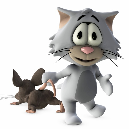 cat and mouse Stock Photo - 9181900