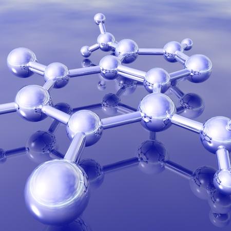 molecular structure: atom