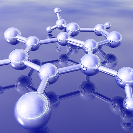 molecular: atom