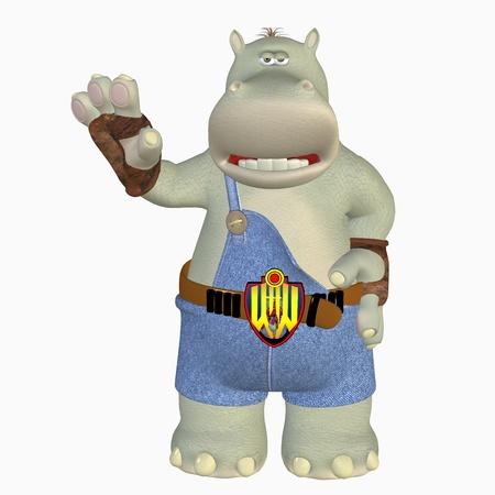 big toe: cool hippo Stock Photo