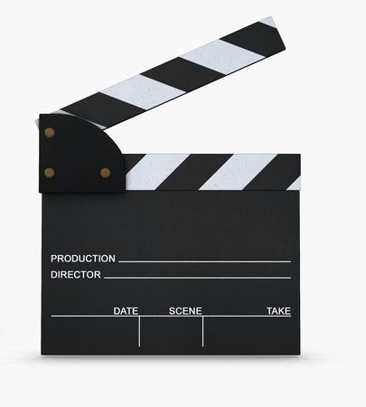 Movie slate  Stock Photo