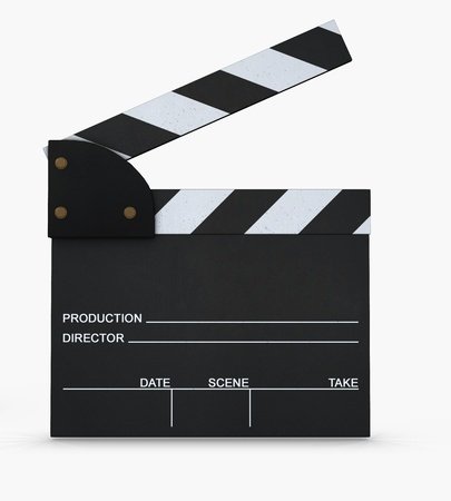 take action: Movie slate  Stock Photo